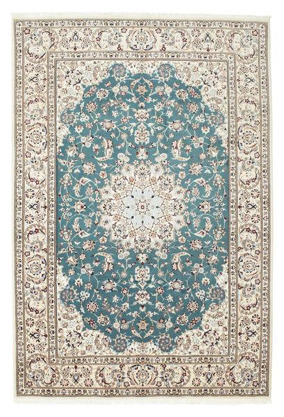 Nain 9La Matto 210X306 Itämainen Käsinsolmittu Vaaleanharmaa/Beige (Villa/Silkki, Persia/Iran)