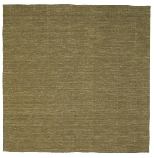 Kilim Loom - Oliva Tappeto 250X250 Moderno Tessuto A Mano Quadrato Verde Oliva Grandi (Lana, India)
