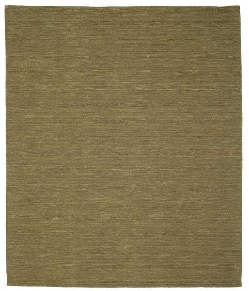 Kilim Loom - Oliwkowy Dywan 250X300 Nowoczesny Tkany Ręcznie Zielony/Oliwkowy Duży (Wełna, Indie)