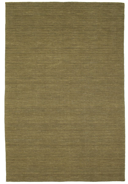 Kilim Loom - Oliwkowy Dywan 200X300 Nowoczesny Tkany Ręcznie Zielony/Oliwkowy (Wełna, Indie)