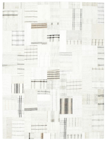 Kilim Patchwork Rug 170X230 Authentic  Modern Handwoven Beige/White/Creme (Wool, Turkey)