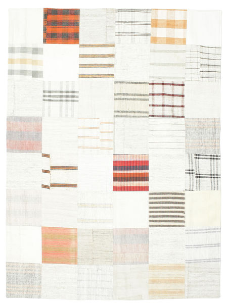 キリム パッチワーク 絨毯 170X231 モダン 手織り ベージュ/ホワイト/クリーム色 (ウール, トルコ)