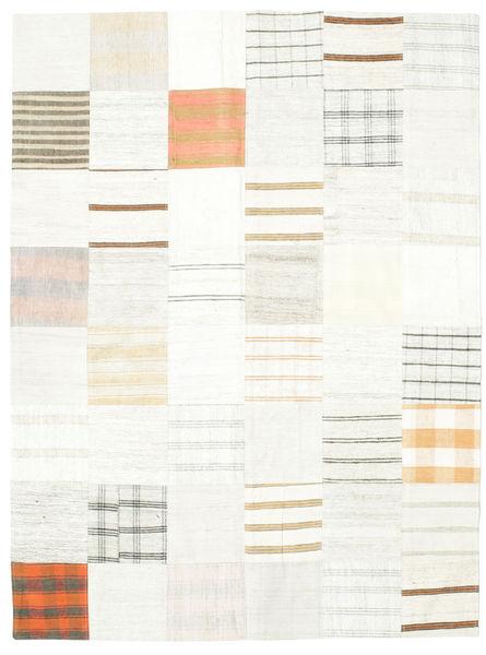 キリム パッチワーク 絨毯 170X230 モダン 手織り ベージュ/ホワイト/クリーム色 (ウール, トルコ)