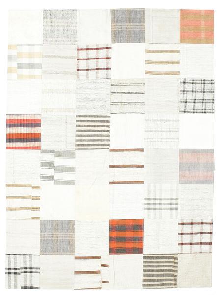 キリム パッチワーク 絨毯 170X230 モダン 手織り ホワイト/クリーム色/ベージュ (ウール, トルコ)