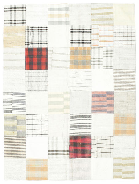 キリム パッチワーク 絨毯 171X229 モダン 手織り ホワイト/クリーム色/ベージュ (ウール, トルコ)