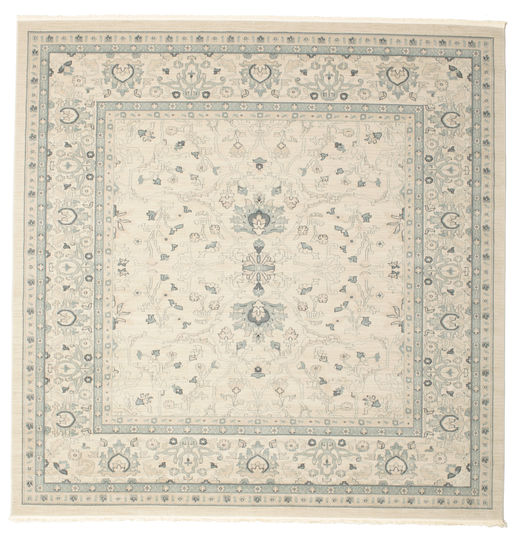 Ziegler Michigan - Green/Beige Rug 300X300 Oriental Square White/Creme/Beige Large ( Turkey)