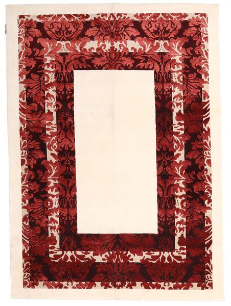 Himalaya Tapis 150X210 Moderne Fait Main Beige/Rouge Foncé ( Inde)
