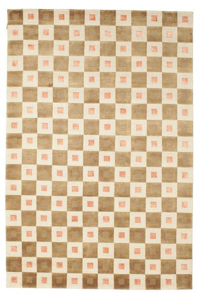 Himalaya Matto 190X285 Moderni Käsinsolmittu Vaaleanruskea/Beige (Villa, Intia)