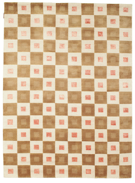 Himalaya Rug 194X284 Authentic  Modern Handknotted Light Brown/Beige (Wool, India)