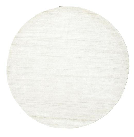Bamboo Silk Loom - Light Natural Rug Ø 200 Modern Round Beige ( India)