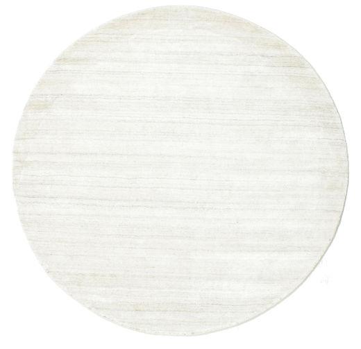 Bambu Silke Loom - Ljus Natural Matta Ø 150 Modern Rund Beige ( Indien)