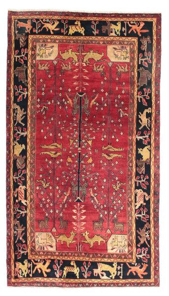 Nahavand Teppe 150X269 Ekte Orientalsk Håndknyttet Brun/Mørk Brun (Ull, Persia/Iran)