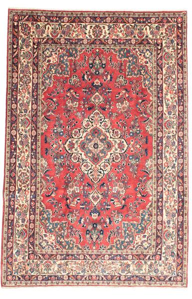 Hamadan Shahrbaf Matto 209X315 Itämainen Käsinsolmittu Vaaleanpunainen/Beige (Villa, Persia/Iran)