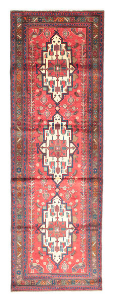 Saveh Vloerkleed 117X360 Echt Oosters Handgeknoopt Tapijtloper Purper/Lichtroze (Wol, Perzië/Iran)