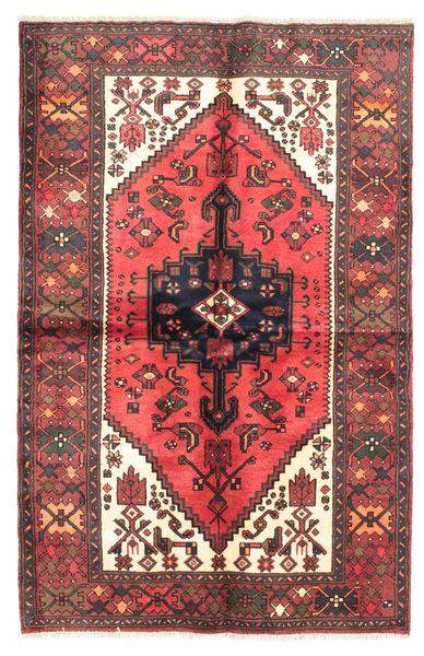 Hamadan Matto 128X195 Itämainen Käsinsolmittu Ruskea/Tummansininen (Villa, Persia/Iran)