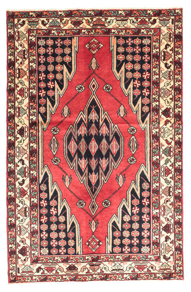 Saveh Rug 130X200 Authentic  Oriental Handknotted Dark Red/Dark Brown (Wool, Persia/Iran)