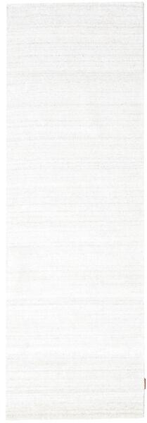 Bambus Seide Loom - Hell Natural Teppich  80X300 Moderner Läufer Beige ( Indien)