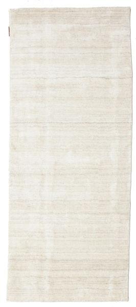 Bamboo Silk Loom - Light Natural Rug 80X200 Modern Hallway Runner  Dark Beige/Light Grey/Beige ( India)
