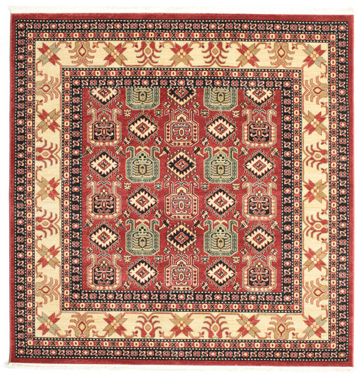 Kazak Simav Rug 200X200 Oriental Square Brown/Beige ( Turkey)