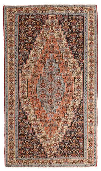 Kelim Senneh Matto 150X260 Itämainen Käsinkudottu Vaaleanruskea/Tummanpunainen (Villa, Persia/Iran)