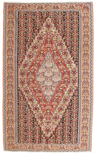 Kelim Senneh Matto 150X246 Itämainen Käsinkudottu Vaaleanruskea/Tummanbeige (Villa, Persia/Iran)