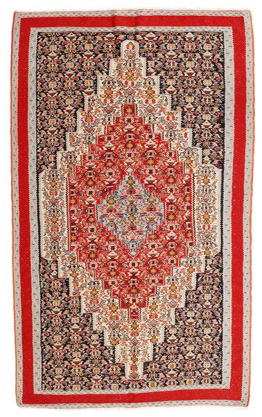 Kelim Senneh Matto 145X252 Itämainen Käsinkudottu Vaaleanruskea/Ruoste (Villa, Persia/Iran)