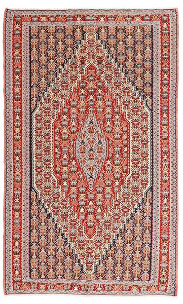 Kelim Senneh Matto 150X245 Itämainen Käsinkudottu Vaaleanruskea/Ruskea (Villa, Persia/Iran)