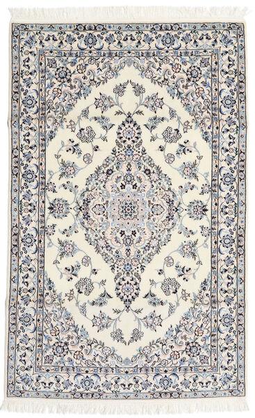 Nain 6La Rug 108X170 Authentic  Oriental Handknotted Light Grey/Beige (Wool/Silk, Persia/Iran)