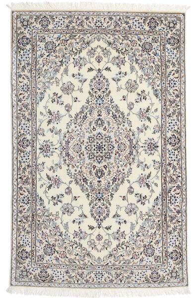 Nain 6La Rug 110X176 Authentic  Oriental Handknotted Light Grey/Beige (Wool/Silk, Persia/Iran)