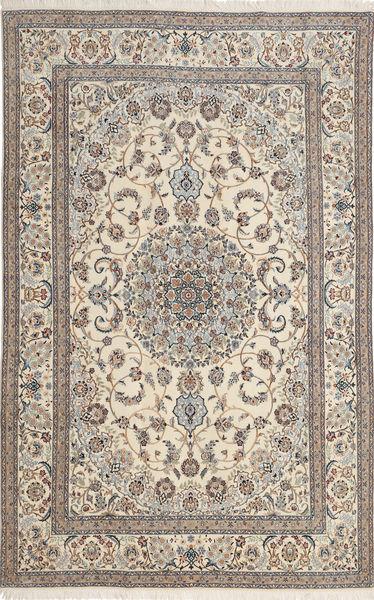 Nain 6La Rug 193X299 Authentic  Oriental Handknotted Light Brown/Beige (Wool/Silk, Persia/Iran)