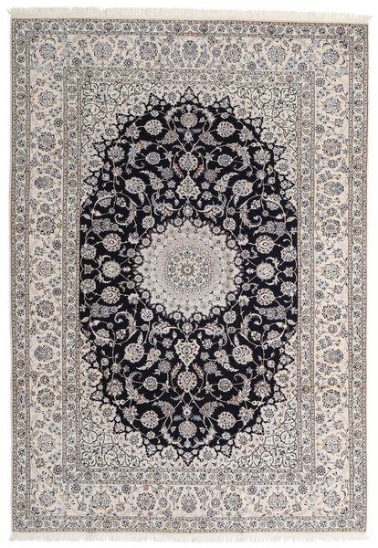 Nain 6La Matto 205X295 Itämainen Käsinsolmittu Vaaleanruskea/Vaaleanharmaa (Villa/Silkki, Persia/Iran)