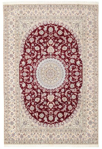 Nain 6La Habibian Matto 200X296 Itämainen Käsinsolmittu Vaaleanruskea/Tummanruskea/Vaaleanharmaa (Villa/Silkki, Persia/Iran)