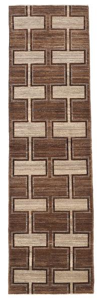 Ziegler Modern Rug 82X295 Authentic  Modern Handknotted Hallway Runner  Brown/Light Brown/Dark Brown (Wool, Pakistan)