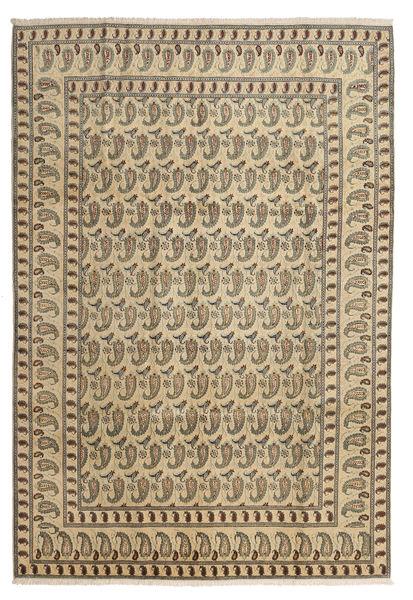 Keszan Dywan 220X326 Orientalny Tkany Ręcznie Jasnobrązowy/Ciemnobeżowy (Wełna, Persja/Iran)