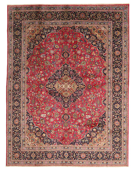 Kashmar Rug 295X383 Authentic  Oriental Handknotted Light Brown/Dark Blue Large (Wool, Persia/Iran)