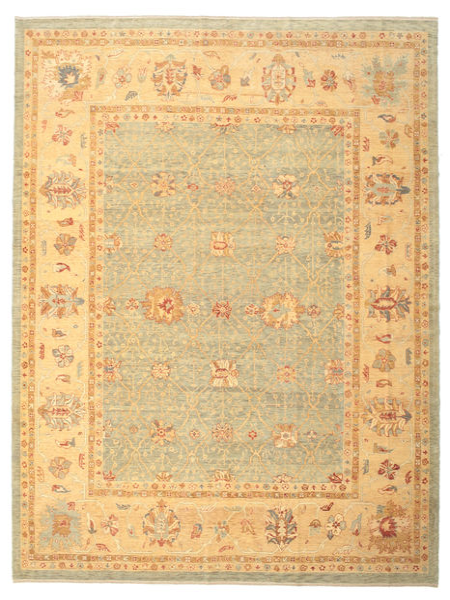 Oushak Rug 323X413 Authentic  Oriental Handknotted Light Brown/Dark Beige Large (Wool, Turkey)