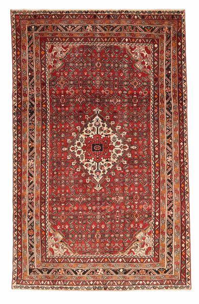 Hosseinabad Patina Matto 198X315 Itämainen Käsinsolmittu Tummanpunainen/Vaaleanruskea (Villa, Persia/Iran)