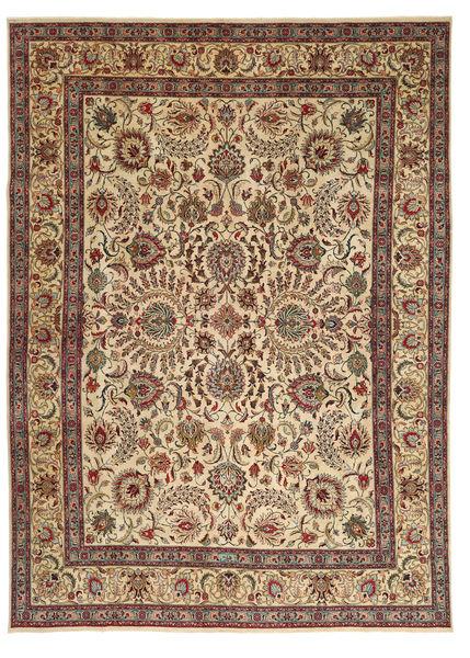 Tabriz Patina Matto 298X408 Itämainen Käsinsolmittu Vaaleanruskea/Tummanpunainen Isot (Villa, Persia/Iran)