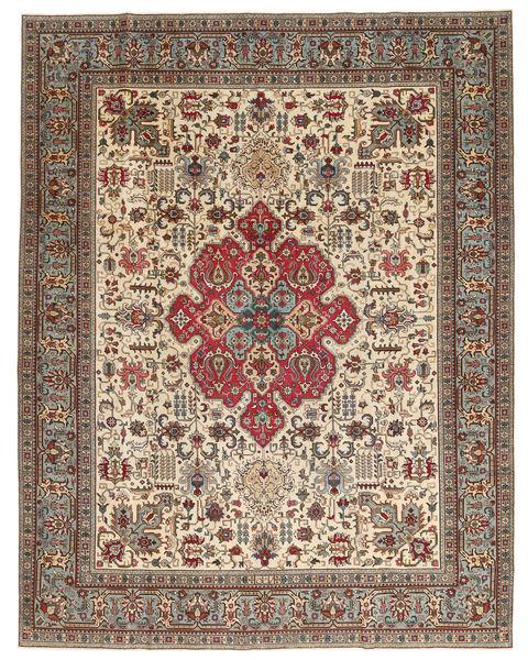 Tabriz Patina Alfombra 298X380 Oriental Hecha A Mano Marrón Claro/Beige Grande (Lana, Persia/Irán)