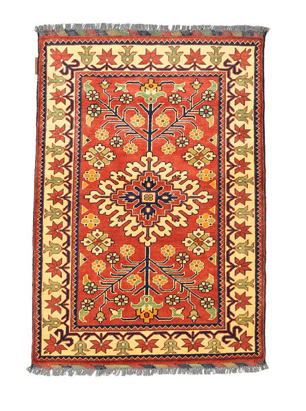 Afghan Kargahi Rug 84X122 Authentic  Oriental Handknotted Orange/Light Brown (Wool, Afghanistan)