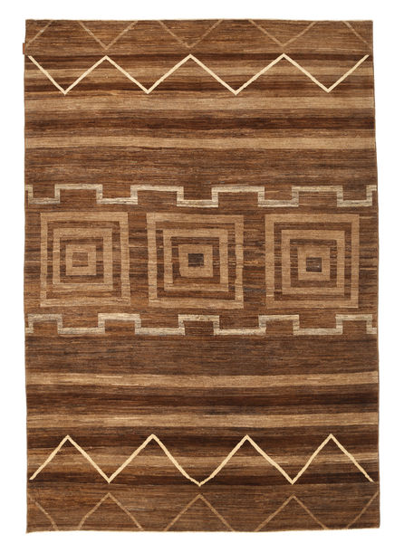 Ziegler Modern Rug 191X280 Authentic  Modern Handknotted Brown/Dark Brown (Wool, Pakistan)