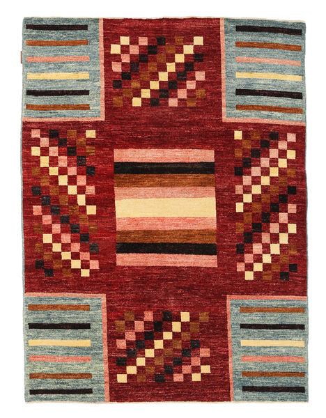 Ziegler Modern Rug 144X192 Authentic  Modern Handknotted Dark Red/Turquoise Blue (Wool, Pakistan)
