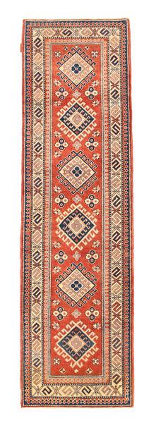 Kazak Rug 80X288 Authentic  Oriental Handknotted Hallway Runner  Light Brown/Orange (Wool, Pakistan)