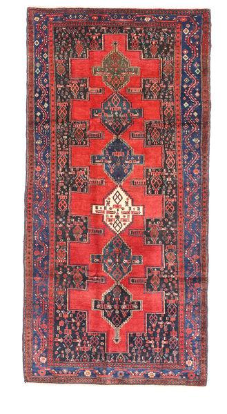 Senneh Matto 123X269 Itämainen Käsinsolmittu Tummanvioletti/Tummanpunainen (Villa, Persia/Iran)