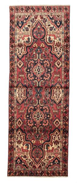 Hamadan Rug 104X292 Authentic  Oriental Handknotted Hallway Runner  Brown/Dark Red (Wool, Persia/Iran)