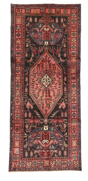 Kurdi Rug 128X303 Authentic  Oriental Handknotted Hallway Runner  Brown/Dark Brown (Wool, Persia/Iran)