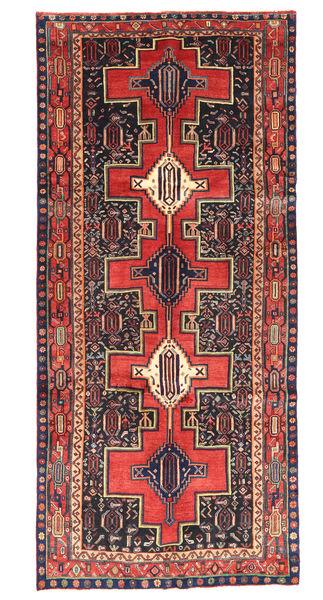 Kurdi Matto 147X330 Itämainen Käsinsolmittu Käytävämatto Ruoste/Tummanpunainen (Villa, Persia/Iran)