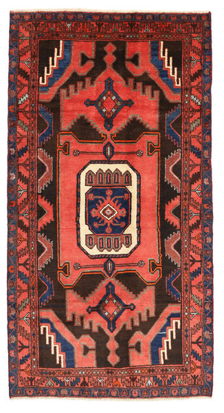 Kurdi Rug 133X249 Authentic  Oriental Handknotted Orange/Black (Wool, Persia/Iran)