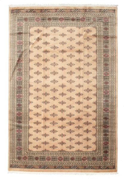 Pakistan Bokhara 3Ply Matto 198X303 Itämainen Käsinsolmittu Vaaleanruskea/Tummanbeige (Villa, Pakistan)
