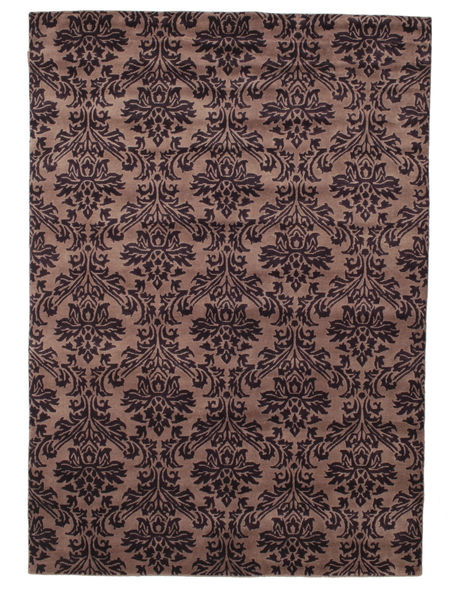 Himalaya Rug 168X240 Authentic  Modern Handknotted Dark Brown/Dark Red (Wool, India)